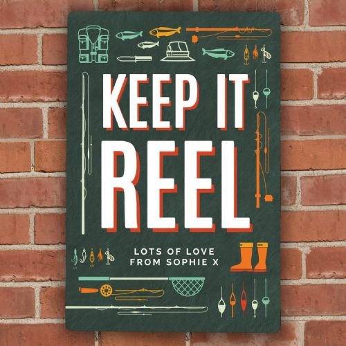 Keep It Reel Metal Sign